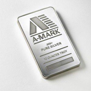 A 10 oz Silver Bar Produced By Amark