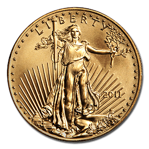 1oz. Gold American Eagle Coin (Obverse Side)