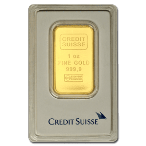 A 1 oz. Gold Bullion Bar Produced By Credit Suisse