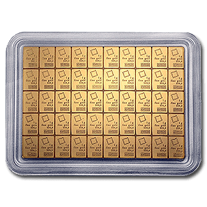 A Unique Gold Bullion Product By Valcambi. This 50 Gram Bar Can Be Broken Into 50 Smaller 1 Gram Bars
