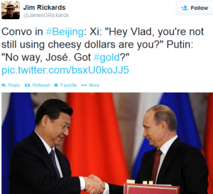 An Amusing But True Situation Tweeted By Jim Rickards