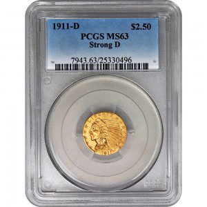 A Graded Numismatic Gold Coin