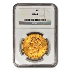 An American Rare Gold Coin, Graded And Encapsulated.
