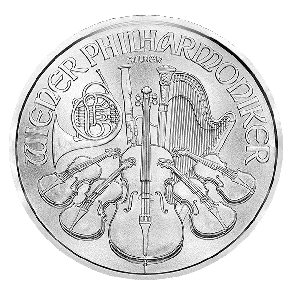 a silver philharmonic is simple to test for couinterfeit silver coins