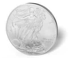 An American Silver Eagle. Note The Reeded Edge, Or The Ridges On The Side OF The Coin.
