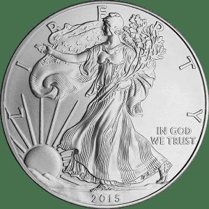 A 2015 American Silver Eagle.