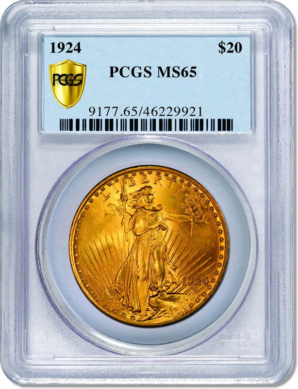 Most Common Counterfeits :: A GENUINE MS 65 $20 Gold Coin