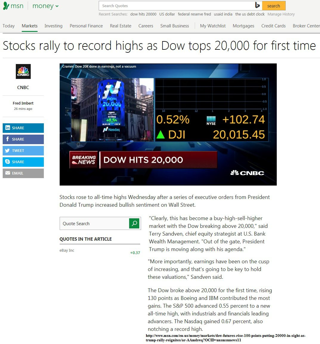 1-25-17 Dow Hit's 20,000