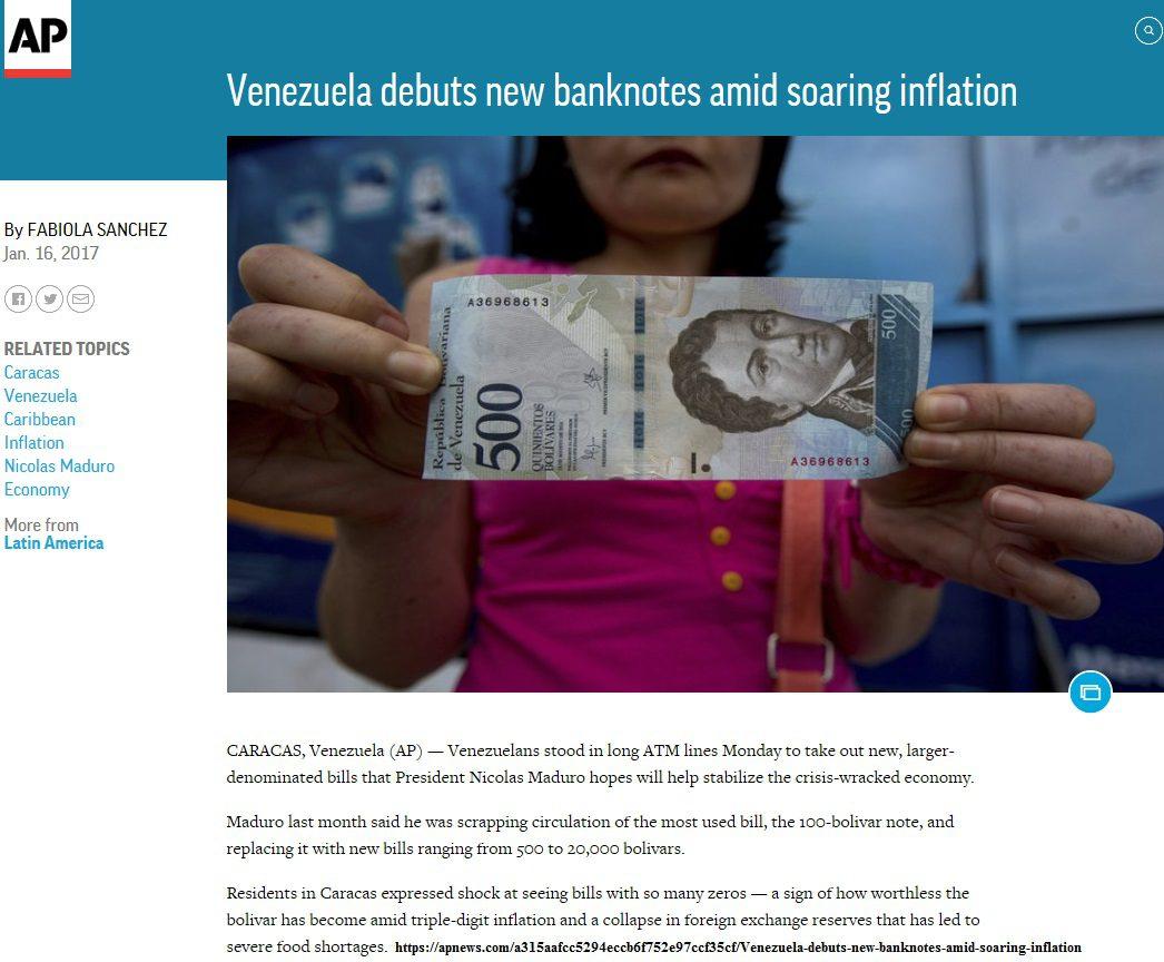 2-1-17 Venezuela new banknotes