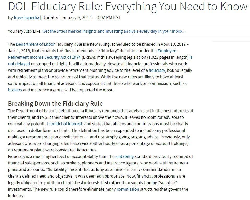 2-3-17 Fiduciary Rule