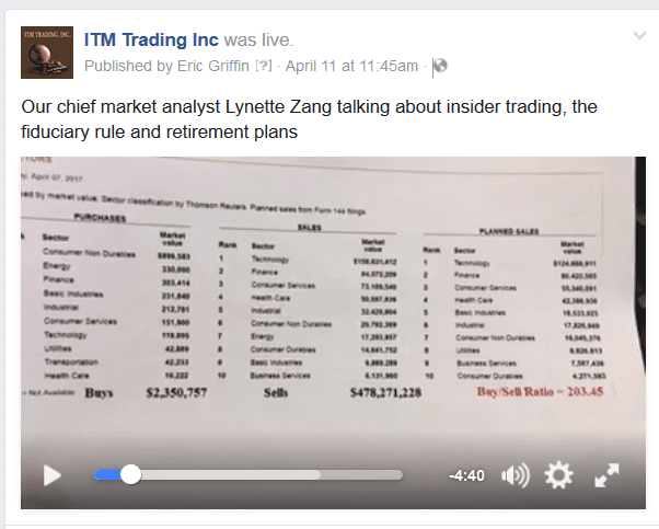 Lynette Zang Talking About Insider Trading.