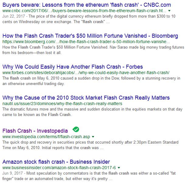 Flash Crashes