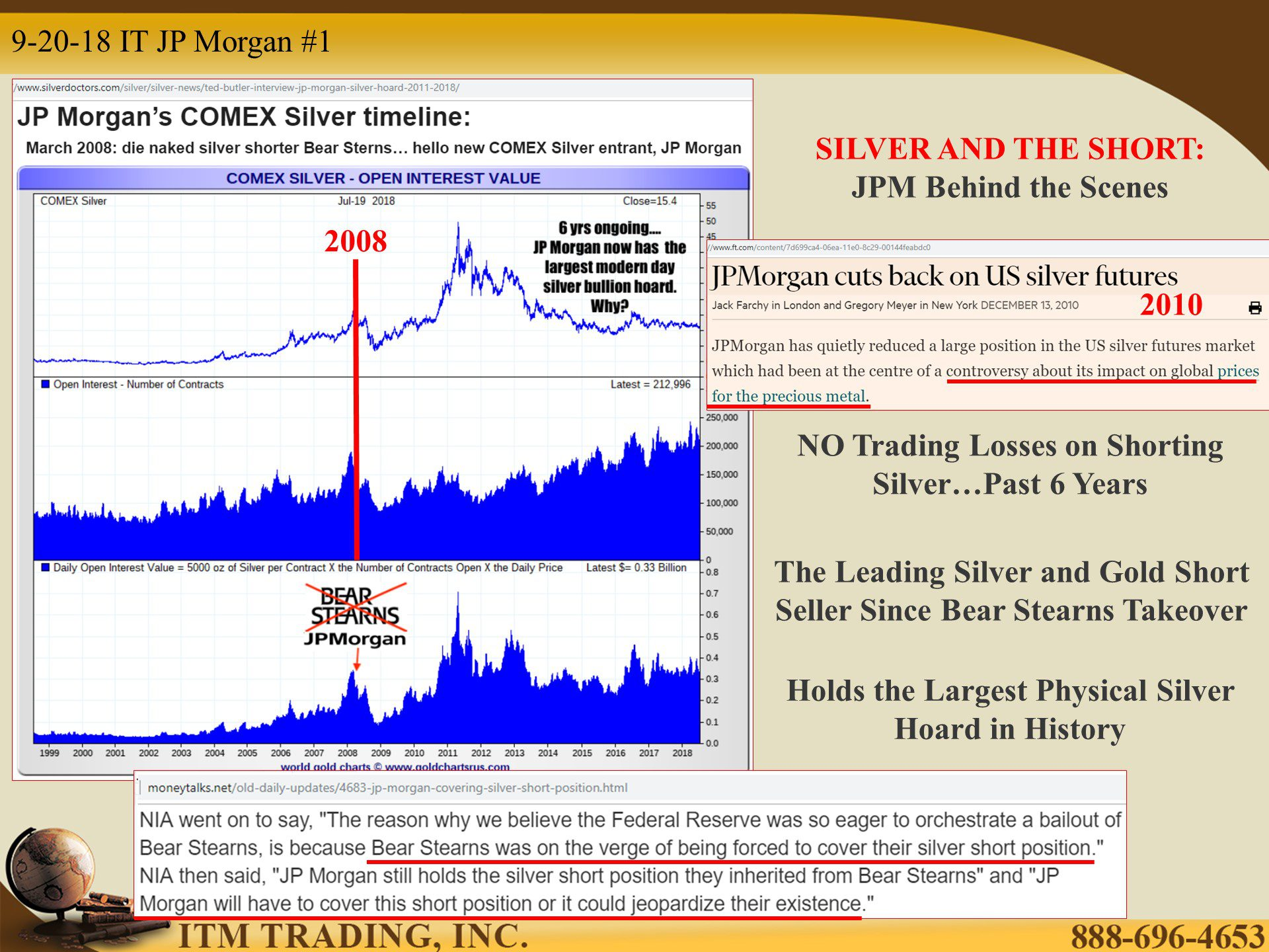 SILVER AND THE SHORT: JPM Behind the Scenes    by Lynette