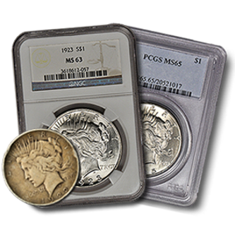 Picture for category Peace Silver Dollar Coins