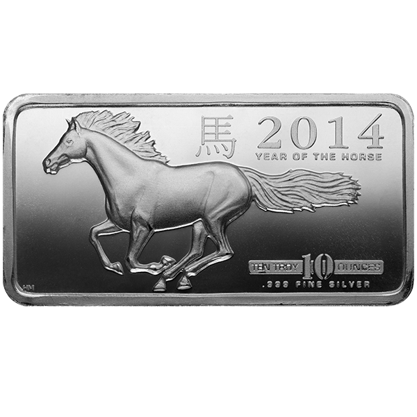 Picture of 10 oz Horse Silver Bar - 2014
