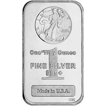 Picture of 1 oz Walking Liberty Silver Bar