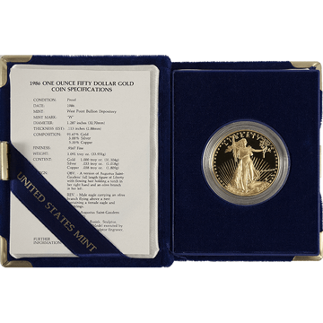 Picture of 1 oz Proof American Gold Eagle (Random Year, w/ CoA)