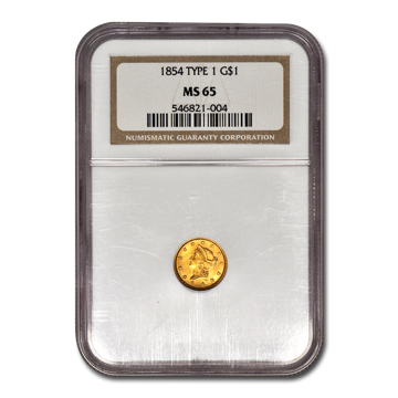Picture of $1 Gold Coins Type 1 MS65