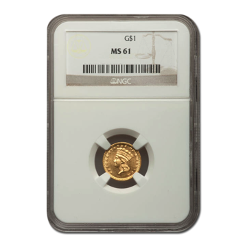 Picture of $1 Gold Coins Type 3 MS61
