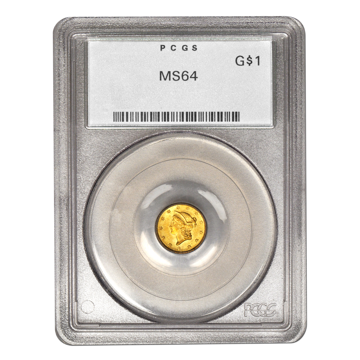 Picture of $1 Gold Coins Type 3 MS64