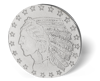 Picture of 1 oz HM $5 Incuse Indian Silver Round