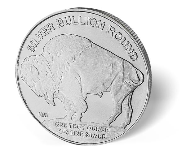 Picture of 1 oz HM Buffalo Silver Round