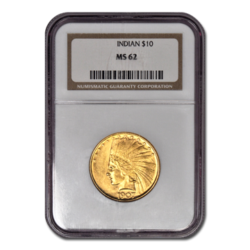 Picture of 1907NM $10 Indian Gold Coin MS62