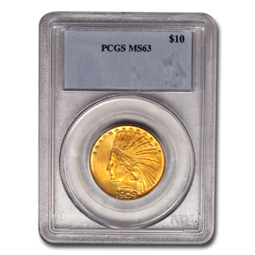 Picture of 1909S $10 Indian Gold Coin MS63