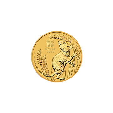 Picture of 2020 1/10 oz Australian Gold Lunar Mouse Coin