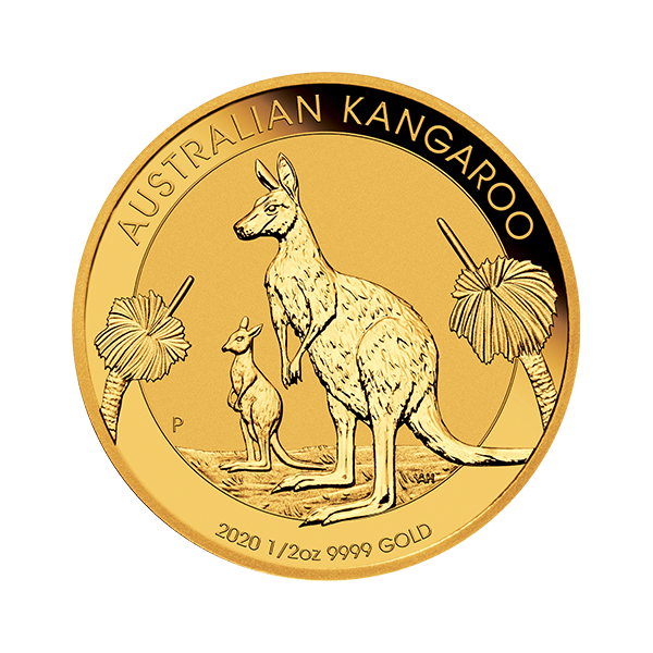 Picture of 2020 1/2 oz Australian Gold Kangaroo Coin