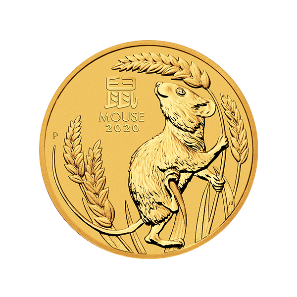 Picture of 2020 1/2 oz Australian Gold Lunar Mouse Coin