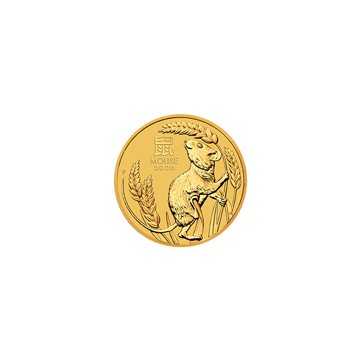 Picture of 2020 1/20 oz Australian Gold Lunar Mouse Coin