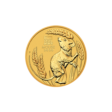 Picture of 2020 1/4 oz Australian Gold Lunar Mouse Coin