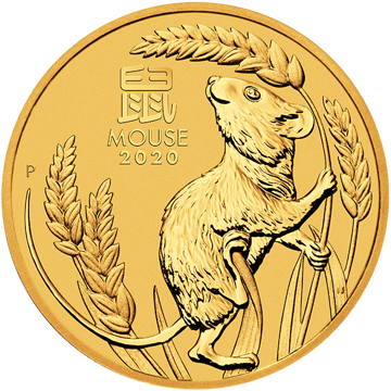 Picture of 2020 2 oz Australian Gold Lunar Mouse Coin