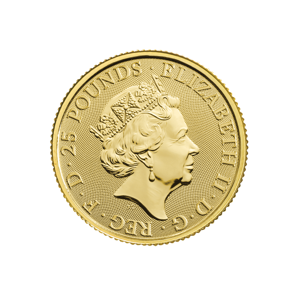 Picture of 2020 1/4 oz British Gold Queens Beast White Lion Of Mortimer