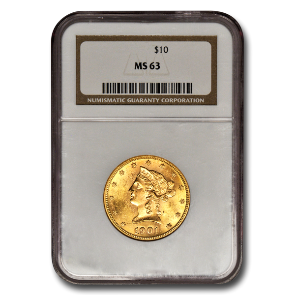 Picture of 1885 $10 Liberty Gold Coin MS63