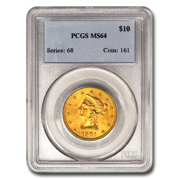 Picture of 1892S $10 Liberty Gold Coin MS64