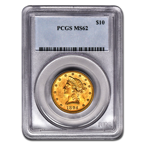 Picture of 1893S $10 Liberty Gold Coin MS62