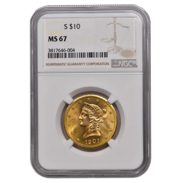 Picture of 1899S $10 Liberty Gold Coin MS67
