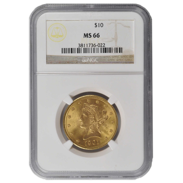 Picture of 1907D $10 Liberty Gold Coin MS66