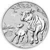 Picture of 2021 1 oz Australian Silver Lunar Ox Coin